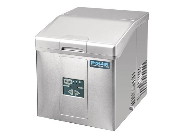 Polar Eis-Maschine mit abnehmbaren Korb Stock - 3 einstellbare Größen - 15kg / 24h - 2 Jahre Garantie