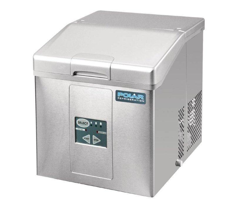 Polar Ice machine with removable basket Stock - 3 adjustable sizes - 15kg / 24h - 2 years warranty
