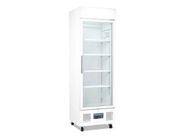 Polar Display refrigerator with glass door - 336 Liter - 62x57x (h) 190cm