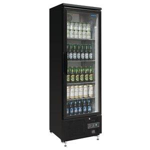 Polar Kühlschrank mit Glastür Black - 370 Liter - 60x51x (h) 188cm