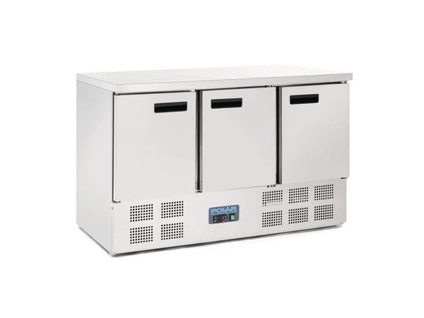 Polar Cool Workbench - RVS - 3 door - 137x70x (h) 85cm - BASIC
