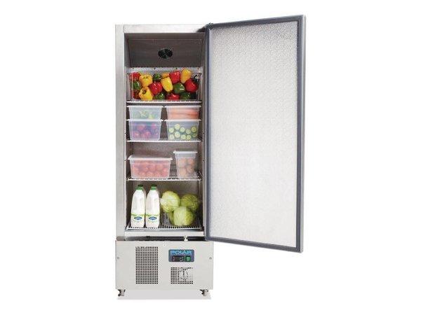 Polar Edelstahl Kühlschrank Pro Haus - 440 Liter - 68x70x (h) 195cm