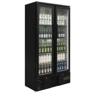 Polar Refrigerator with folding door Black - 490 Liter - 92x51x (h) 188cm