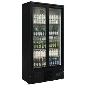 Polar Kühlschrank mit Schiebetür Black - 490 Liter - 92x51x (h) 188cm