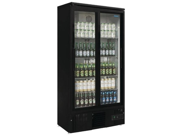 Minibar Kühlschrank Polar : Polar kühlschrank mit schiebetür black liter x