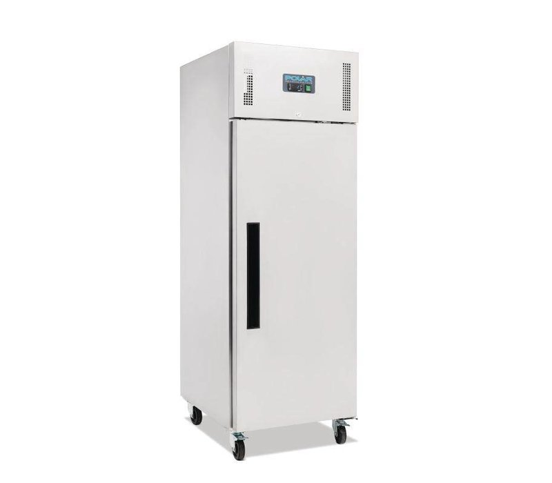 Polar Stainless steel Freezer on Wheels - 68x83x (h) 199cm - GN 2/1 - 600 Liter - HEAVY DUTY! - BESTSELLER