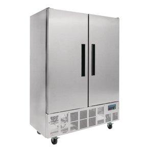 Polar Slimline RVS Horeca koelkast Dubbel Pro - 960 Liter - 134x70x(h)200cm