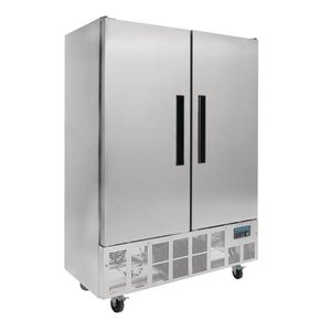 Polar Slimline stainless steel Horeca fridge Double Pro - 960 Liter - 134x70x (h) 200cm