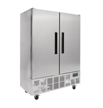 Polar Slimline stainless steel Catering fridge Double Pro - 960 Liter - 134x70x (h) 200cm