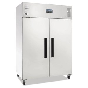 Polar Double stainless steel Horeca 1200 Liter Refrigerator - 134x81x (h) 200cm - Heavy Duty
