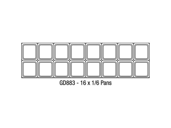 Polar Saladette - 155x76x(h)109cm