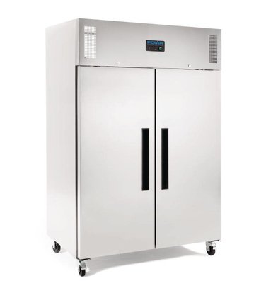 Polar Edelstahl Doppel Gefrierschrank on Wheels - 81x134x (h) 200cm - Double Door - 1200 Liter - 2/1 GN