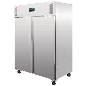 Polar Professional Double stainless steel Freezer - 1300 Liter - 148x83x (h) 201cm