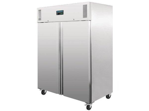 Polar Professional Double stainless steel Freezer - 1300 Liter - 148x83x (h) 201cm