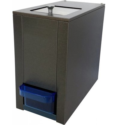 XXLselect IJscrusher - 180kg/u - Voorraad Container 1kg - HEAVY DUTY - 175x330x(h)315mm