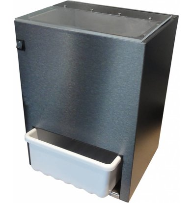 XXLselect IJscrusher - 300kg/u - Voorraad Container 5kg - HEAVY DUTY - 370x310x(h)510mm