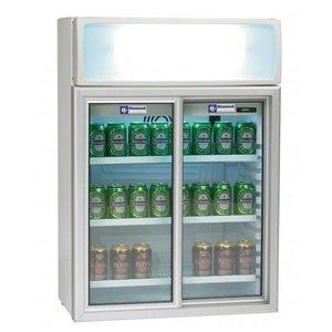 Diamond Koelkast - 100 Liter - 2 glazen schuifdeuren