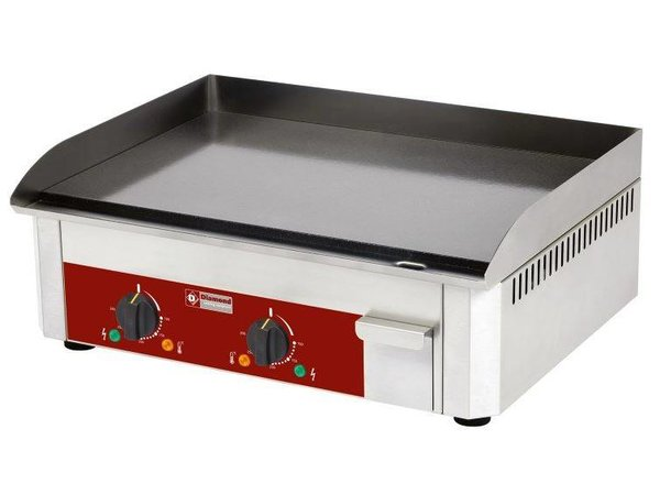 Diamond Enamelled electric griddle - smooth - 60x45x (h) 19cm - 6kW