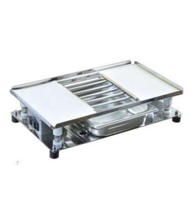 XXLselect Vibrierende Tabletop | Inkl. Grate und Fach | 540x320mm