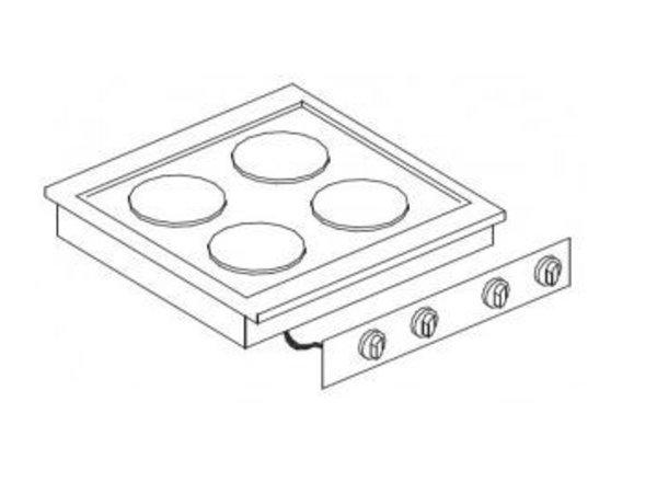 Combisteel Elektrische Kocheinheit | Drop-in | 4 Datensätze | 4x 2 kW | 400V | 600x557mm