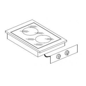 XXLselect Ceramic Cooking Unit | Drop-in | 2 Zones | 1,8kW 1x and 1x 2.5kW | 400x557mm