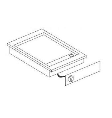 Combisteel Elektrische Griddle | Drop-in | 3,6kW | glatten | 516x388mm