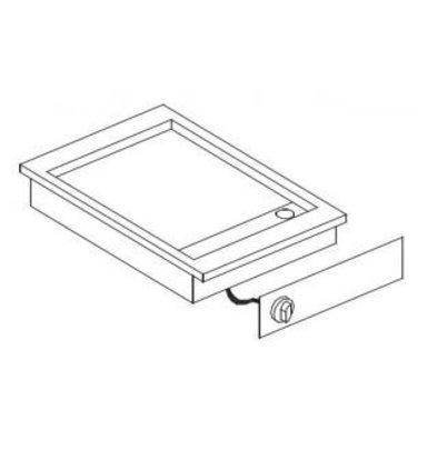 Combisteel Elektrische Griddle | Drop-in | 3,6kW / 400V | glatten | 516x388mm