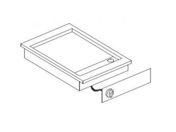 Combisteel Elektrische Bakplaat | Drop-in | 3,6kW / 400V | Glad | 516x388mm