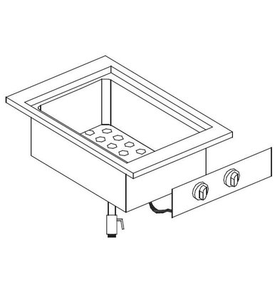 Combisteel Bain-Marie GN1 / 2 + GN1 / 4 | Drop-in | 1,4kW | 557x400mm