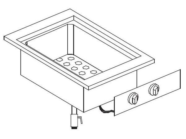 Combisteel Bain-Marie GN1 / 2 + GN1 / 4 | Drop-in | 1,4KW | 557x400mm