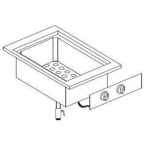 XXLselect Elektrische Pastakoker | Drop-in | 26 Liter | 5,5kW/400V | 557x600mm