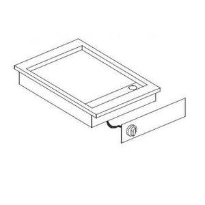 XXLselect Elektrische Griddle Chrome | Drop-in | 3,6kW | glatten | 388x516mm