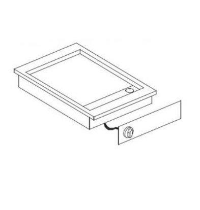 XXLselect Elektrische Bakplaat Chroom | Drop-in | 3,6kW | Glad | 388x516mm
