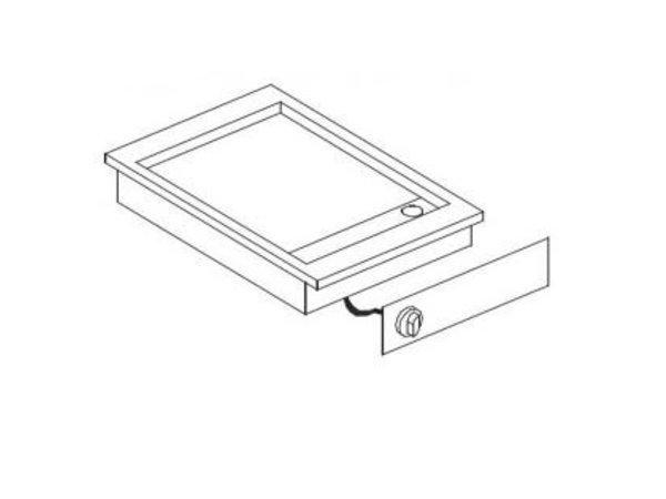 Combisteel Elektrische Griddle Chrome   Drop-in   3,6kW   glatten   388x516mm