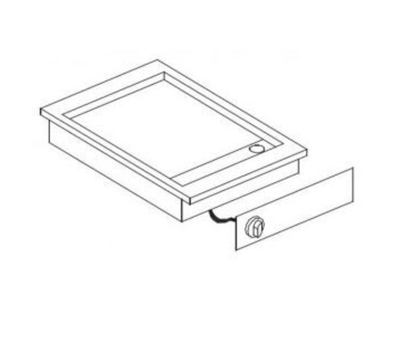 Combisteel Elektrische Bakplaat Chroom | Drop-in | 3,6kW | Glad | 388x516mm