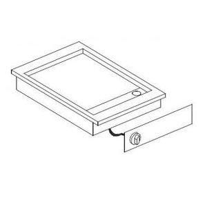 XXLselect Elektrische Bakplaat Chroom | Drop-in | Glad | 3,6kW/400V | 388x516mm