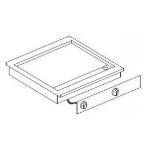 XXLselect Elektrische Griddle | Drop-in | 7,2kW / 400V | glatten | 588x516mm