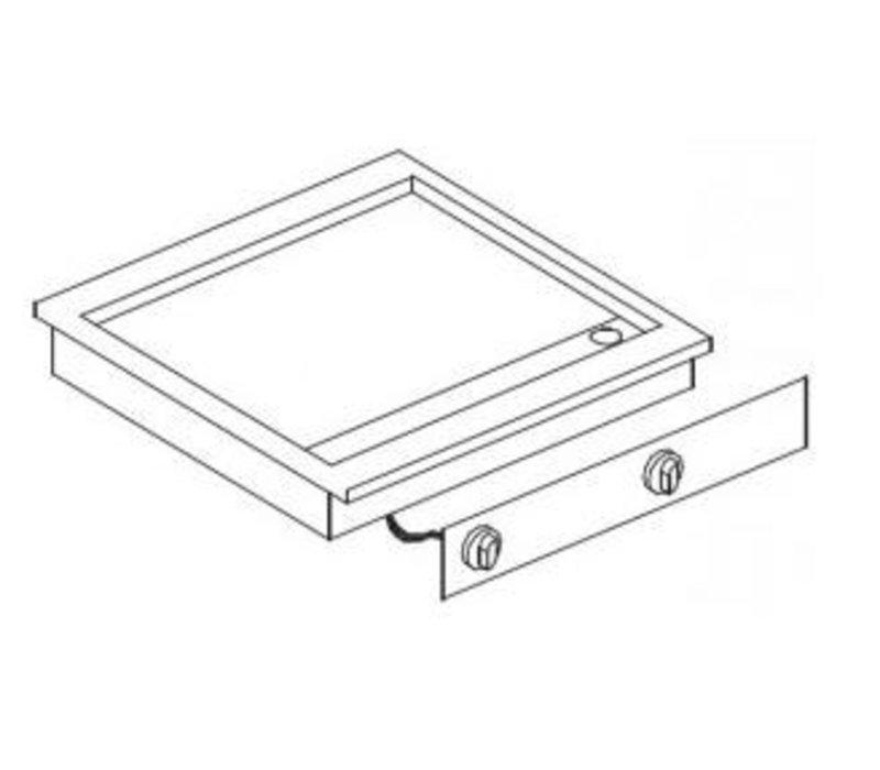 Combisteel Elektrische Bakplaat | Drop-in | 7,2kW/400V | Glad | 588x516mm