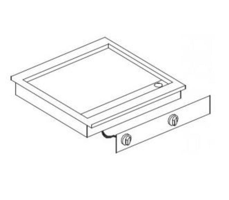Combisteel Elektrische Bakplaat Chroom | Drop-in | 7,2kW/400V | 588x516mm