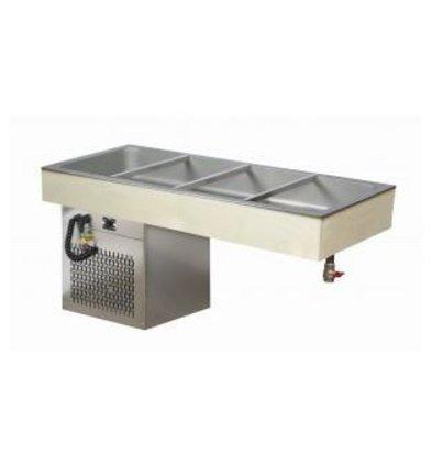 XXLselect Koelplaat 4/1 GN - 544W - 595x1362x650(h)mm