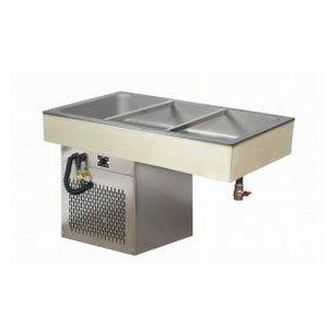 XXLselect Cooling plate GN 3/1 - 537W - 595x1042x650 (h) mm
