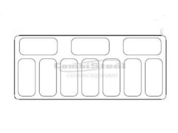 Combisteel Scoop Eis Display Curacao | 10x 5 Liter | 858x1457x1257 (h) mm