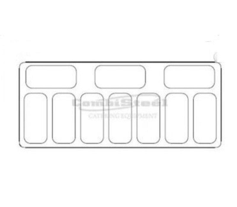Combisteel Schepijsvitrine Curacao | 10x 5 Liter | 858x1457x1257(h)mm