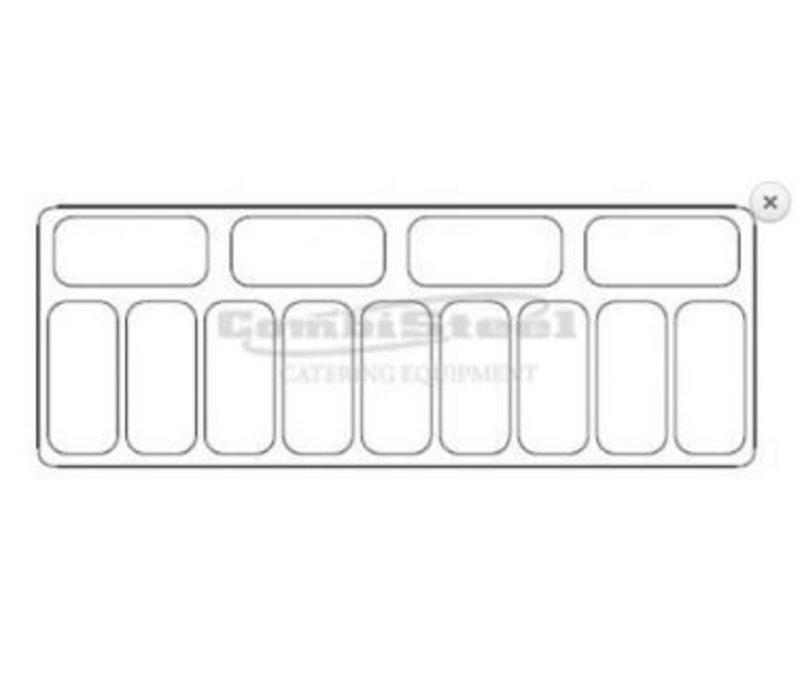 Combisteel Scoop Eis Fidschi anzeigen | 13x 5 Liter | 858x1672x1257 (h) mm