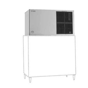 Hoshizaki Ice Machine 584kg / 24h | Hoshizaki KM 1301SAH-E | Air-cooled | No Storage | Crescent Ice