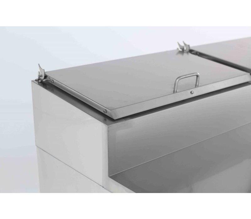 Combisteel RVS Saladette - 2 Deurs - 1360x700x1085(h)mm