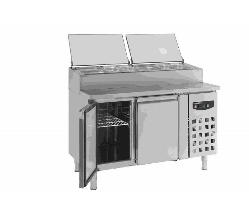 Combisteel Stainless Saladette - 2 Doors - 1360x700x1085 (h) mm