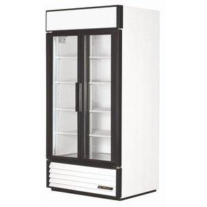 True Kühlschrank mit Glastür Doppel - 995 Liter - 5 Jahre Garantie - 100x75x (h) 199cm