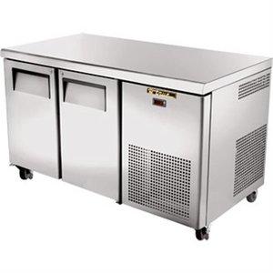True Freeze Workbench stainless steel 2 door - 297 Liter - 142x712x (h) 86cm - 5 Year Warranty