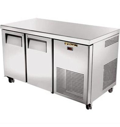 True Freeze-Workbench aus Edelstahl 2 Türen - 297 Liter - 142x712x (h) 86cm - 5 Jahre Garantie